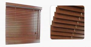 Żaluzje drewniane red mahogany