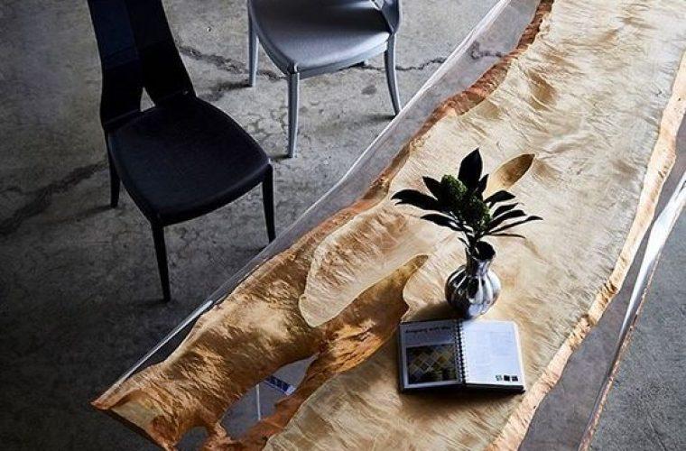 Stół z żywicy